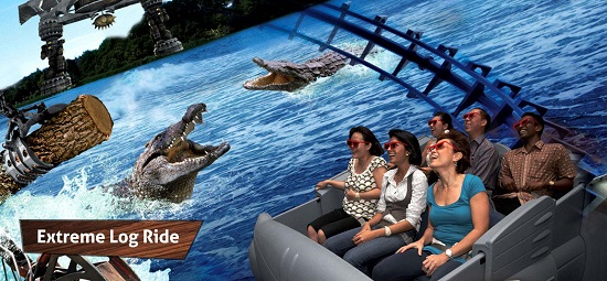 4D AdventureLand Extreme Log Ride