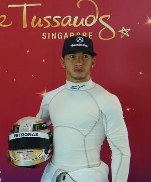 Lewis Hamilton madame tussauds singapore