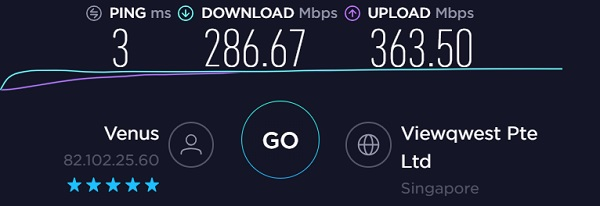 NordVPN Speed Singapore