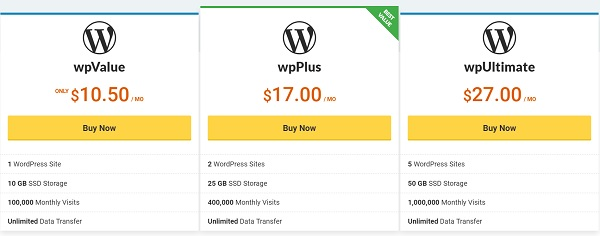 Vodien wordpress pricing
