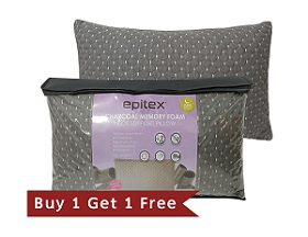 Epitex Charcoal Shredded Memory Foam Pillow