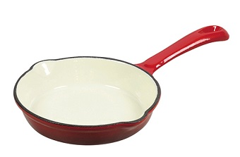Pearl Life Rouge Enamel Iron Casting Pan