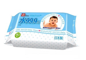 LEC 99.9% Pure Water Baby Wipes