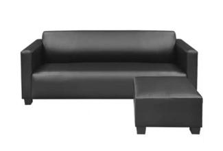 PVC 3-Seater Sofa