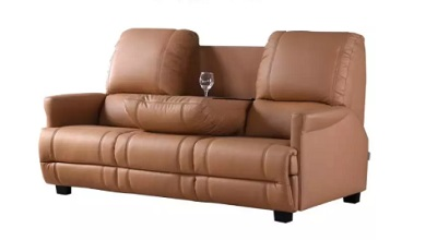 Univonna 3-Seater PU Leather Sofa