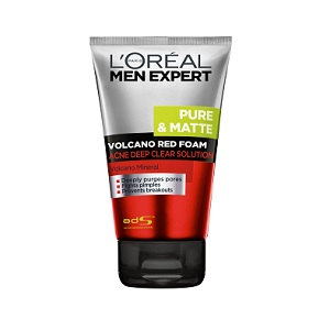 L'oreal Men Expert Volcano Red Foam Acne Deep Clear Solution