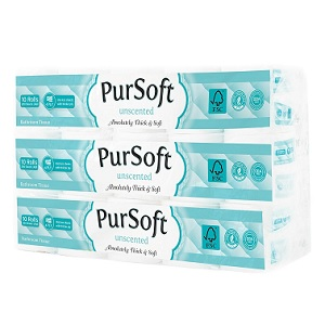 PurSoft Unscented Core 4-Ply Toilet Tissue