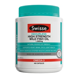 Swisse Ultiboost Odourless High Strength Wild Fish Oil
