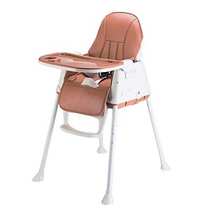 Baby High Chair with Wheels