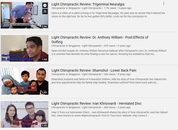 Light Chiropractic Client Review